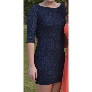 Beautiful Navy and Silver Sparkle Dress!!